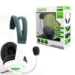 Xbox 360 Live Pro Gamer Headset with Dual Earphone + Mic Whi