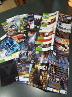 Xbox 360 Replacement Box Art Manuals inserts Total No Games