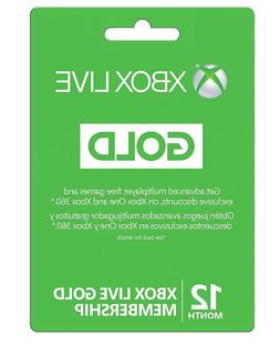 Microsoft Xbox LIVE 12 Month Gold Membership for Xbox 360 /