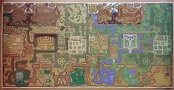 """Zelda GIGANTIC 24"""" x 48"""" Link to the Past World Map Nintendo"""